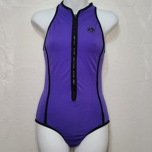 Venus Swimsuit w/ front Zip and Peace signs